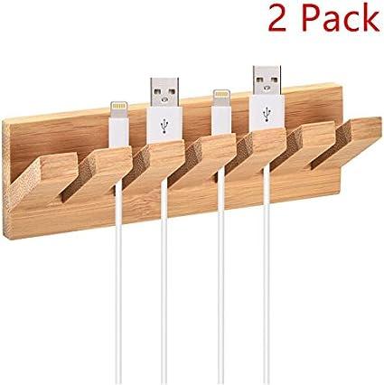 firstbuy bambú Cargador de cable organizador y sistema de gestión ...