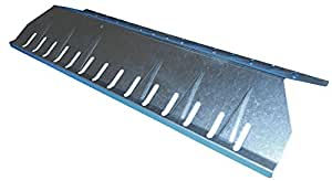 Music City Metals 96061 Aluminized Steel Heat Plate Replacement for Select Broil-Mate and Master Forge Gas Grills