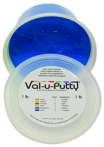 Fabrication Enterprises 10-3944 Val-U-Putty Exercise Putty, Blueberry(Firm), 1 lb. by Fabrication