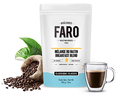 Faro Roasting House Classic Breakfast Blend 2Lb  Light And Medium Roast Whole Bean Coffee Blend 100  Arabica   Whole Bean Coffee   Fresh Coffee Beans  2 Pound Bag