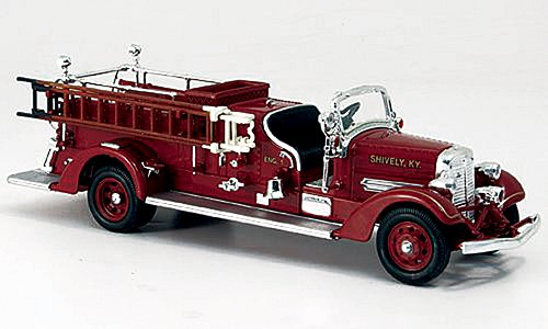 (Ahrens Fox VC, red, Shively, 1938, Model Car, Ready-made, Yat Ming 1:43)