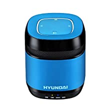 The latest stylish Hyundai i70 portable Bluetooth speaker /Support LINE IN / pro radio FM play (Blue)