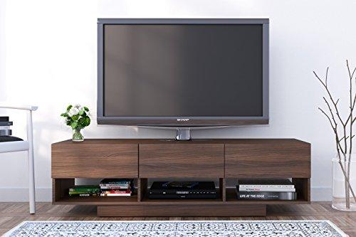 Nexera Rustik 3 Drawers TV Stand, 60 , Walnut