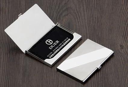 sm treade hot silver pocket business name credit id card holder metal box cover case - Pocket Business Card Holder