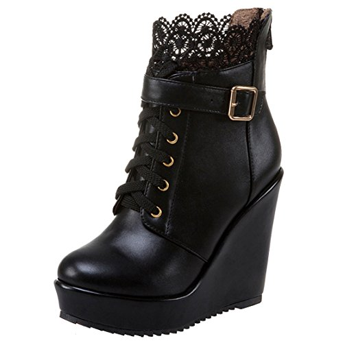 AIYOUMEI Women's Classic Boot Black MRu28ef
