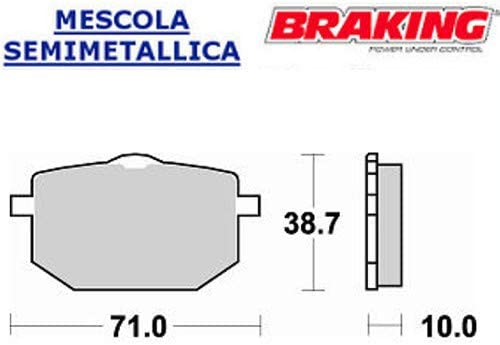 683SM1 Par de pastillas compatibles con Yamaha XT 600 1987 1990 delantero SX Braking