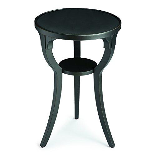 BUTLER 1328111 DALTON BLACK LICORICE ROUND ACCENT TABLE