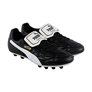 Puma Mens King Top M.I.I Fg Black-White-Team Gold Size 10