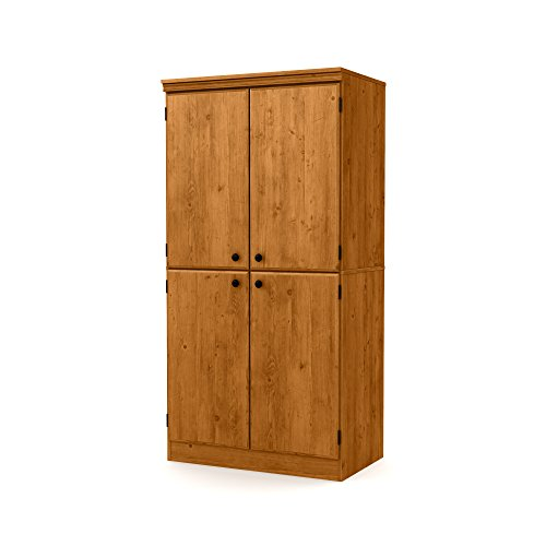 South Shore Morgan 4-Door Storage Cabinet, Country (Pine Cabinet Doors)
