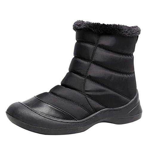 Picture of Yellow Tree Company Women Waterproof Winter Boots Warm Fur Snow Boots Ankle