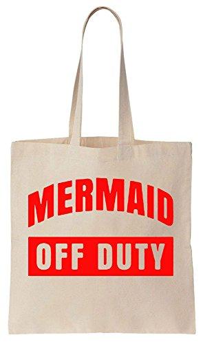 Mermaid OFF DUTY Sacchetto di cotone tela di canapa