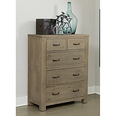 NE Kids Highlands 5 Drawer Chest in Driftwood