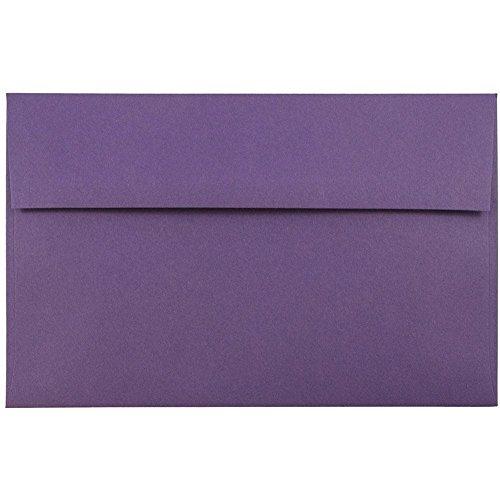 - JAM PAPER A10 Premium Invitation Envelopes - 6 x 9 1/2 - Dark Purple - 50/Pack