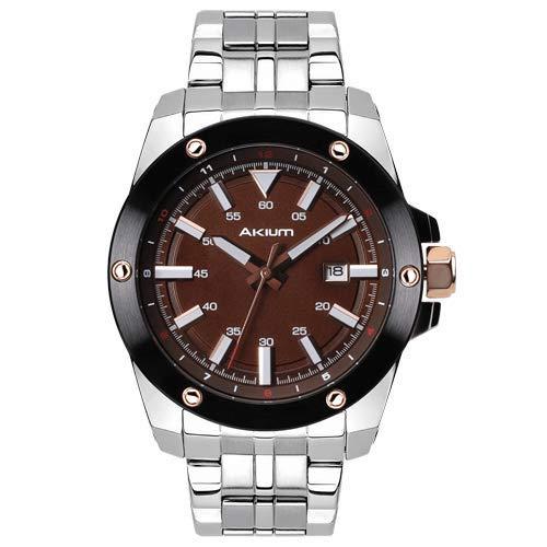 e3bedf1be3f Relógio Akium Masculino Aço - 03E47GB02-BROWN  Amazon.com.br  Amazon ...