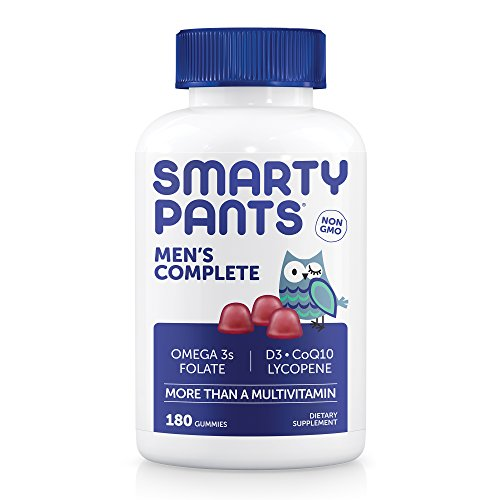 Price comparison product image SmartyPants Men's Complete Gummy Vitamins: Multivitamin,  CoQ10,  Lycopene,  Methyl B12,  & Omega 3 EPA / DHA Fish Oil,  180 count (30 Day Supply)