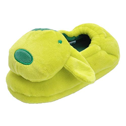 - Boy's Girl's Cute Doggy Slippers Unisex Toddler Kids Cartoon Warm Plush House Shoes Green, US 9-10 M