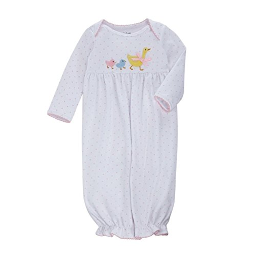 Baby Girl Chick (Mud Pie Farmhouse Baby Girl Goose, Chicks One-Piece Convertible Gown (3-6 Months))