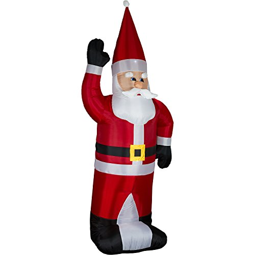 Aufblasbarer XXL Weihnachtsmann, 280 cm hoch, LED BELEUCHTET, SELBSTAUFBLASEND