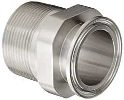 Dixon 21MP-R150 Stainless Steel 316L Sanitary Fitting, Clamp Adapter, 1-1/2\