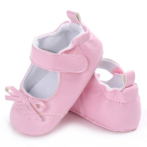 Ouneed® Krabbel schuhe , 2017 Herbst Baby Bowknot Prinzessin Soft Sole Schuhe Kleinkind Casual Schuhe Rosa