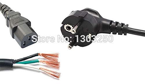 Calvas 20pcs UK Power Cable//UK Power Cord//three Wire Cable//Wire Cord//three wire Power Cord 3 Pin 3-Pin 1.5M wholeslae
