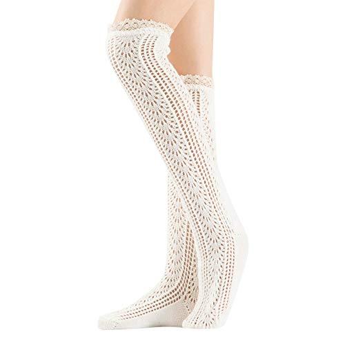 URIBAKE Women Winter Thermal Socks Knit Crochet Leggings Twist Lace Slouch Boot Soft Leg Warmers]()