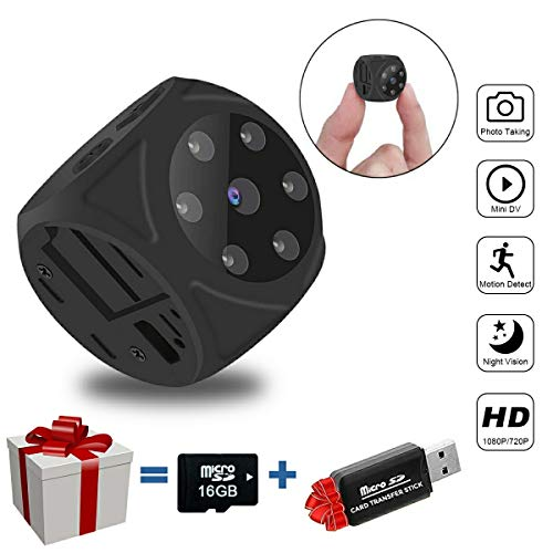 (Mini Spy Hidden Camera (No WiFi), 1080P Portable Small Camera with Night Vision and Motion Detective, Perfect Security Camera Surveillance Camera Nanny Cam for Home and Office (No Live No App))