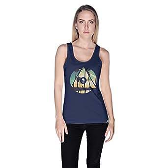 Creo La Town Tank Top For Women - S, Navy Blue