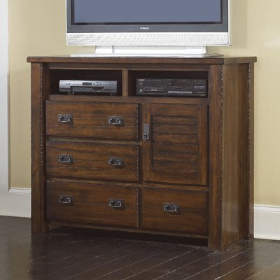 Progressive Furniture Trestle Wood Media Chest