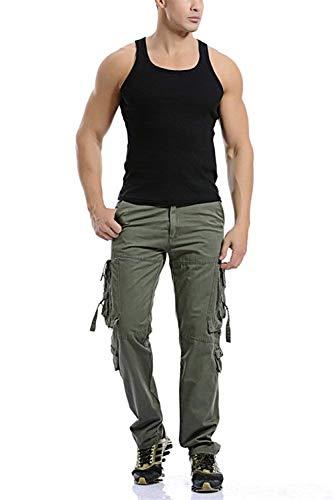 Pantaloni Classiche Ragazzi Tattici Da Fashion All'aperto Cargo Casual Multitasche Lunghi Jogging Laisla Con Vintage Uomo Caccia Grün qv5HRvwU