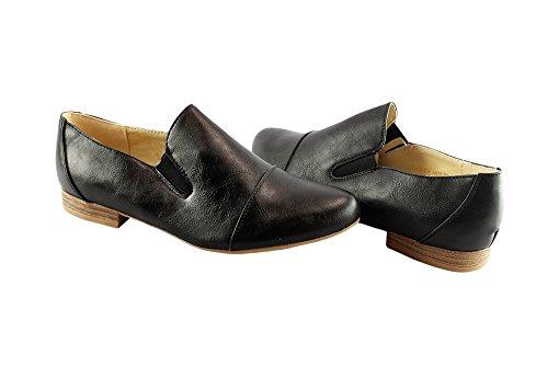 de Negro Zapatillas para Tacón bajo Liyu Mujer FRdq5Yx