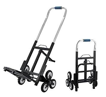 zoopo 330lbs capacidad plegable subir escaleras carro todo terreno 44,5 (Extended altura tres ruedas diseño escalera escalada carretilla de mano para fácil ...