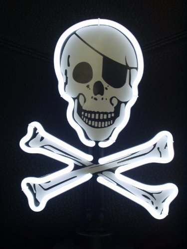 Neonetics Skull and Crossbones Neon Sign Sculpture (Neon Skull And Crossbones)
