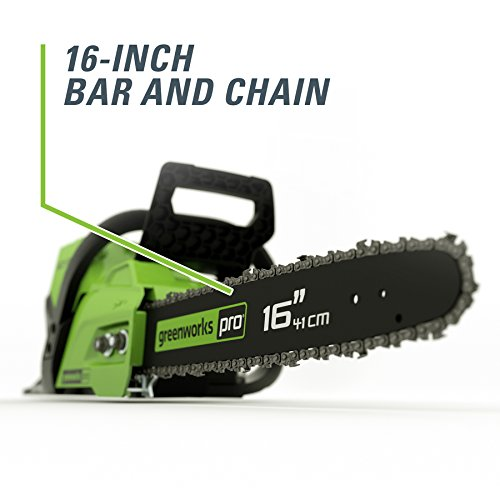 Greenworks Pro 60-volt Lithium Ion 16-in Brushless Cordless Electric Chainsaw Chainsaw Only, Battery charger Not Included