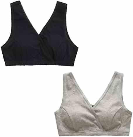 484a17301fc8b EMY Nursing Bra Maternity Bra Pack Wrap Sleep Bra for Maternity to Nursing  Seamless Cotton for