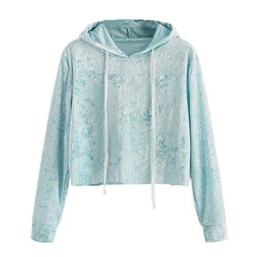 FEITONG Womens Velvet Hoodie Sweatshirt Jumper Hooded Pullover Tops ()