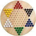 すべて天然木製Chinese Checkers withビー玉木製おもちゃクリスマスギフト