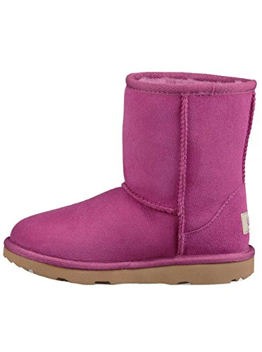 UGG Girls Classic II Shearling Boot, Magenta Rose, Size 2 M US Little Kid (Ugg Boot Shaft Height)