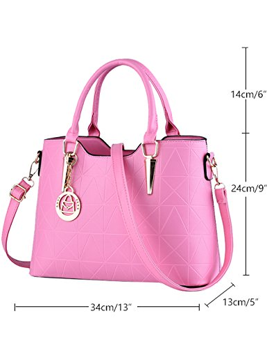 Bag Shoulder Bags Cross Handle Hand Bag Diamond Body PU Blue Bags Pink Women's qUOCxwBn