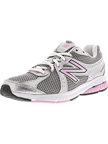 New Balance Women's WW665 Fitness Walking Shoe,Grey/Pink,5.5 2A US