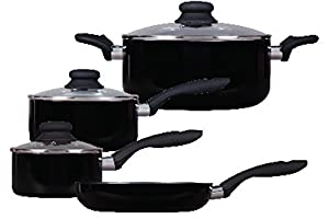Gibson ColorSplash Branston 7-Piece Aluminum Cookware Set