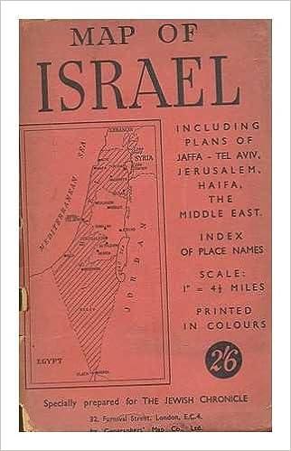 Tel Aviv Middle East Map.Map Of Israel Including Plans Of Jaffa Tel Aviv Jerusalem