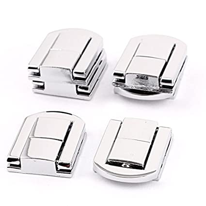 EbuyChX maleta Box Guitar Case Drawbolt Closure aldaba Silver Tone 6PCS