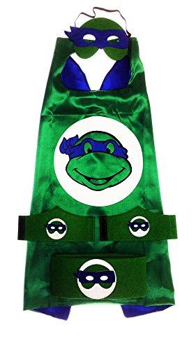 [MyTinyHeroes Children's Superhero Costume - 5 Pc Set - Leonardo] (Family Guy Masks Costumes)