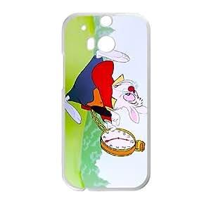 HTC One M8 Phone Case White Alice in Wonderland White Rabbit YU9402345