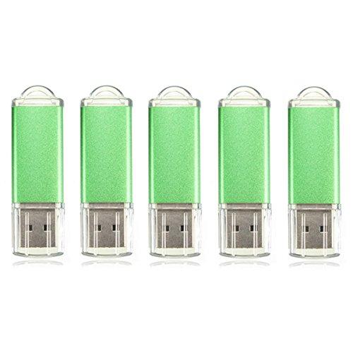 5 x 128MB USB 2.0 Flash Drive Candy Green Memory Storage Thumb U Disk