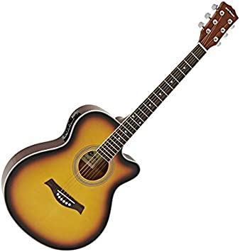 Guitarra Electroacustica Single Cutaway de Gear4music - Sunburst