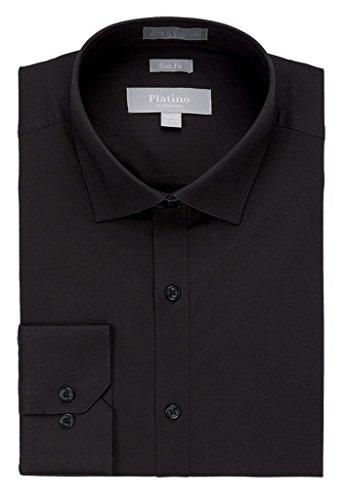 Marquis Men's Slim Fit Spandex Dress Shirt 2XL ()