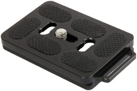 Black Aluminum Quick Release Plate for Tripod PU60 Durable