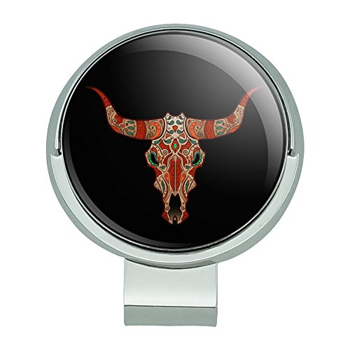 GRAPHICS & MORE Bull Skull Day of The Dead Golf Hat Clip with Magnetic Ball Marker (Golf Marker Cow Ball)